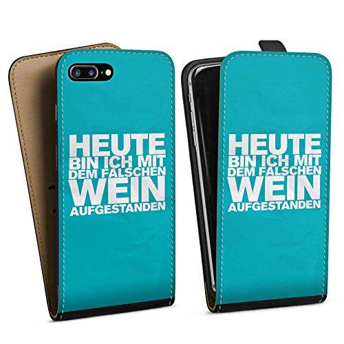 Apple iPhone X Silikon Hülle Case Schutzhülle Wein Sprüche Statement Downflip Tasche schwarz