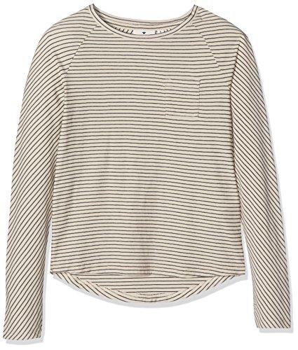 TOM TAILOR Kids Mädchen Langarmshirt Striped Raglan Tee, Schwarz (Original 1000), 164 (Weiße Mädchen-raglan-t-shirt)