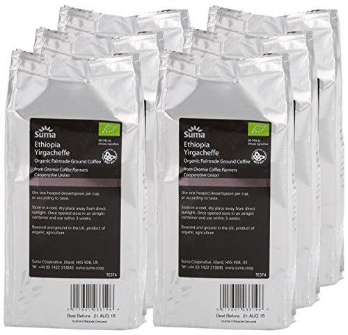 Suma Fairtrade Organic Ground Ethiopia Coffee 227 g (Pack of 6)