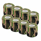 #4: Ranchoman Pack of 8 Non-Woven Self Adhesive Wrap Bandages, Strong Elastic Self Adherent Cohesive Tape Bandages Rolls