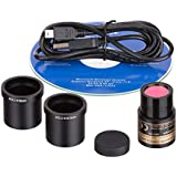 AmScopeCámara microscópica digital USB, 1,3mega píxeles, foto y vídeo en directo