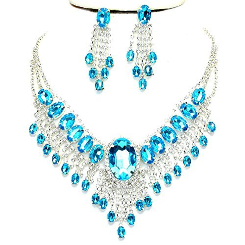 Jewelry & Watches Sensible Gorgeous Designer Cubic Zirconia Wedding Necklace Earring Set Nk Wh 22