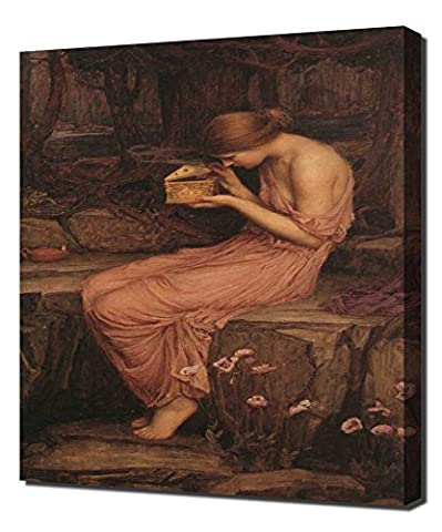 John William Waterhouse - Psyche Opening The Golden Box Cgfa - Art Reproduction On Canvas - A High Quality Canvas Art Print