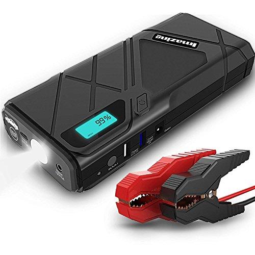 Imazing Auto Starthilfe,1500A Spitzenstrom 12000mAh Tragbare Autobatterie Anlasser Sofort Starthilfe Externer Akku Ladegerät mit 2 USB Ausgänge,LED Taschenlampe,für Notfall Car Jump Starter