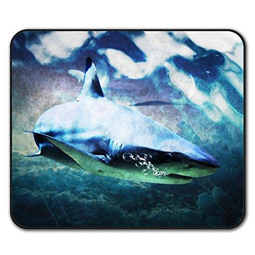 Wild-tier-silhouette (Hai Tier Wild Tier Mouse Mat Pad, Hai Rutschfeste Unterlage - Glatte Oberfläche, verbessertes Tracking, Gummibasis von Wellcoda)