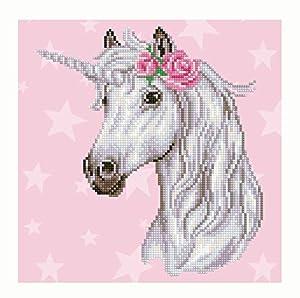 Pracht Creatives Hobby DD-49298 Diamond Dotz Unicornio, Brillante Imagen de Diamante para Personalizar, Aprox. 32 x 32 cm
