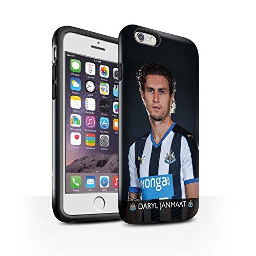 Offiziell Newcastle United FC Hülle / Glanz Harten Stoßfest Case für Apple iPhone 6S / Pack 25pcs Muster / NUFC Fussballspieler 15/16 Kollektion Janmaat
