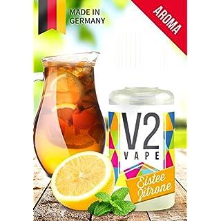 V2 Vape Eistee-Zitrone AROMA/KONZENTRAT hochdosiertes Premium Lebensmittel-Aroma zum selber mischen von E-Liquid/Liquid-Base für E-Zigarette und E-Shisha 10ml 0mg nikotinfrei