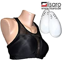 Lady en el pecho con tejido transpirable sujetador de protección, color  - negro, tamaño large