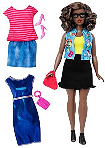 Mattel Barbie DTF02 Barbie Fashionistas Style Puppe und Moden mit