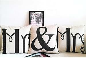 mr mrs kissenbez ge liebhaber hochzeit kissen retro. Black Bedroom Furniture Sets. Home Design Ideas