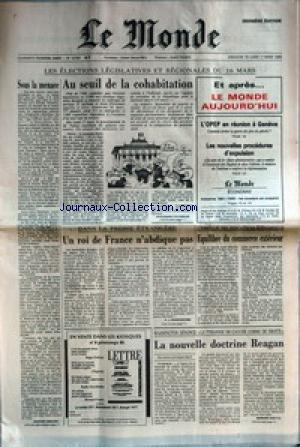 MONDE (LE) [No 12793] du 17/03/1986 - AU...