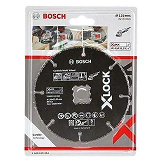 Bosch Professional Expert – Disco de corte (para madera y plásticos, X-LOCK, Ø125 mm, diámetro del orificio: 22,23 mm, grosor:1 mm)