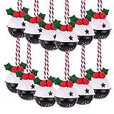 Victor's Workshop 12 Pezzi 8cm Decorazione Natalizia Campane di Natale Jingle Metallo Ornamento di Natale con Stelle Pattern di Decorazioni Natalizie Ciondolo - Rosso/Verde / Bianco