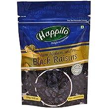 HappiloPremium Afghani Seedless Black Raisins, 250g (Pack of 1)