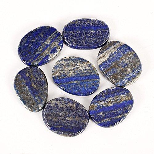 AITELEI 7 piezas/lote de piedras naturales para la curación de las piernas de chakra de cristal y piedra de bolsillo para la palma de la mano Reiki Equilibrando la terapia de geometría