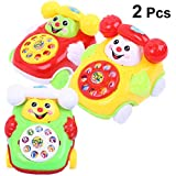 YeahiBaby Kid Chatter Telephone Toys Learning Educational Toys For Kids Gifts 2pcs (Random Color)