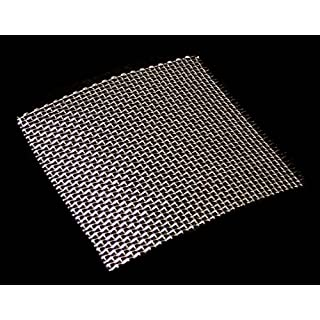 Stainless Steel Woven Wire Mesh 15cm x 15cm, 11 hole sizes / Mesh count / Aperture size. (10 Mesh)