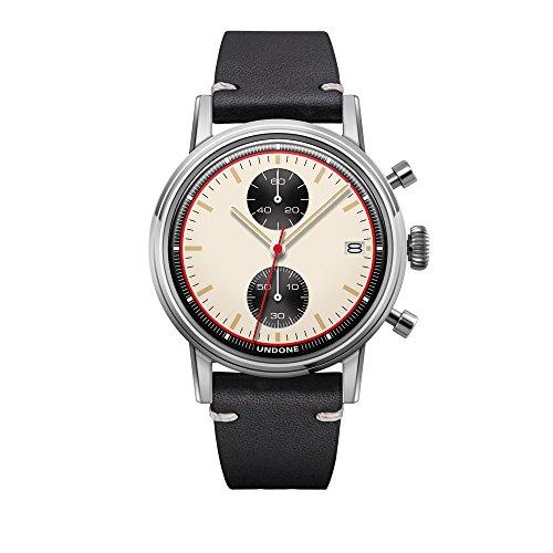 Undone Herren Uhr Chronograph Hybrid Quarz Mechanisch Edelstahl Leder Newman - Hybrid-ip-systeme