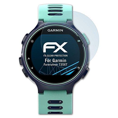 atFoliX Schutzfolie kompatibel mit Garmin Forerunner 735XT Folie, ultraklare FX Bildschirmschutzfolie (3X)
