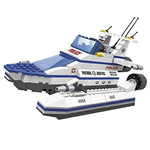Ausini - Juego de construcción patrullera Policía - 321 piezas (ColorBaby 42830)