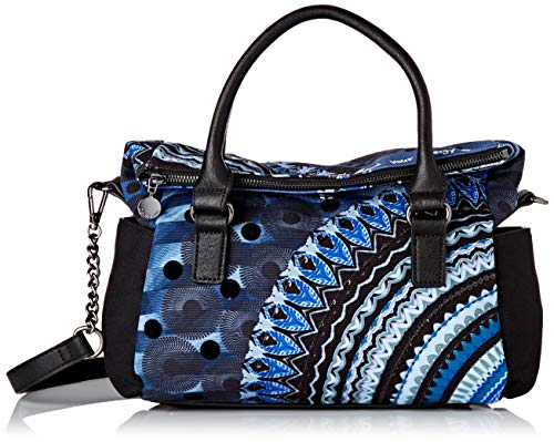 Desigual Damen Bag Friend Loverty Henkeltasche, Blau (Blue Indigo), 24x9x29.5 cm