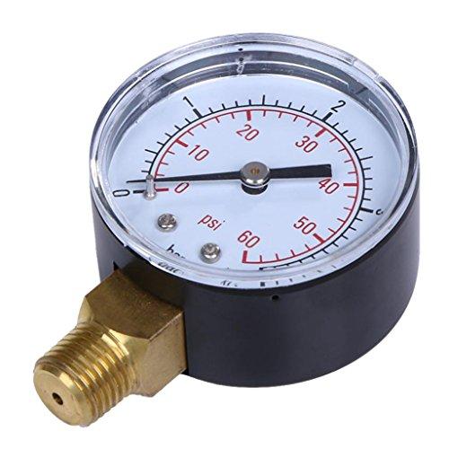 MagiDeal-14-NPT-Manometro-di-Acciaio-Inox-50mm-5x7x276cm-Misuratore-Pressione-di-Pneumatici-Idraulica-Compressore-Daria