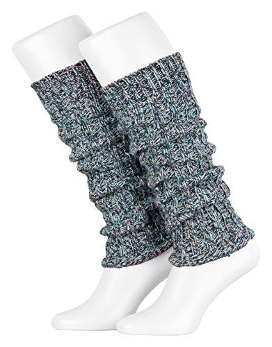 sourcingmap/® Paar Damen Schnalle Schneeflocke Hirsch Muster Knie hoch gestrickt Bein Stulpen