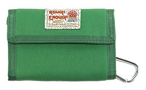 ROUGH ENOUGH Leinwand klassischen lässig Wallet Geldbörse (GREEN)