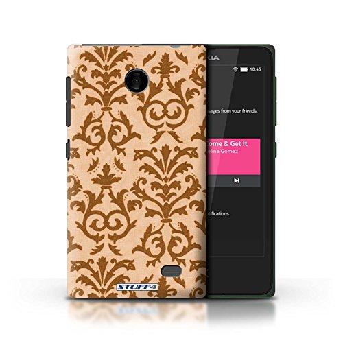 Kobalt® Imprimé Etui / Coque pour Nokia X / Jaune conception / Série Motif de défilement Orange