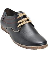 Kolapuri Centre Black Color Casual Lace Up Shoe For Men's
