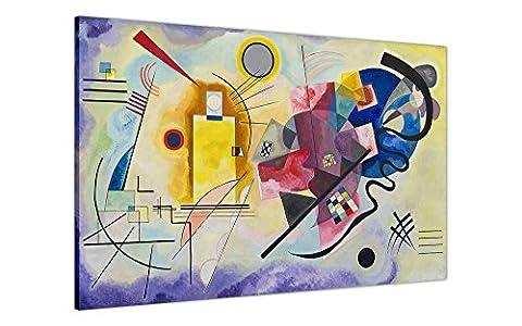 Impression sur toile 30x Masterpiece Jaune Rouge Bleu par Wassily Kandinsky Impression photo photo de décoration classique Photos Peinture huile reprint