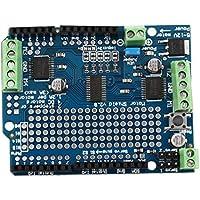 LoveOlvidoE Motor Azul Durable liviano/Stepper / Servo/Robot Shield para Arduino v2 con PWM Driver Shield 68 x 52 x 20 mm
