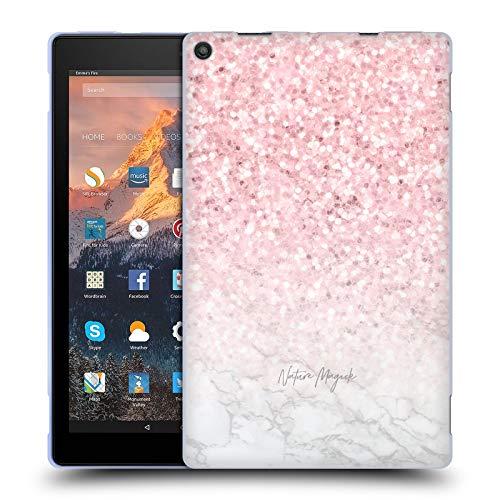 fizielle Nature Magick Pink Funkel Rosa Gold Marmor Glitzer Soft Gel Huelle kompatibel mit Amazon Fire HD 10 (2017) ()