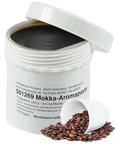 Hobbybäcker Mokka-Paste ► Zur Verfeinerung von Eis, Joghurts, Desserts & Tortencremes, intensives Kaffee-Aroma, 250g