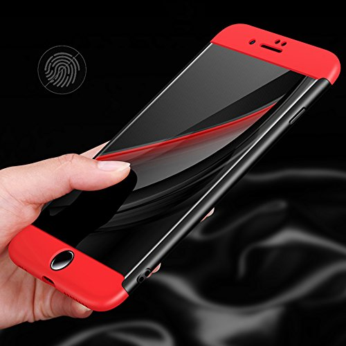 iPhone Hülle, Ultra Thin Hybrid 360 ° Komplettschutz Shockproof Hard Back [Hybrid Hard PC] Voller Deckung Schutzhülle Cover [Nicht Reveal Apple Logo] Für Apple iPhone 6 / 6s 7 7 Plus (4.7 / 5.5 Zoll)  Gold