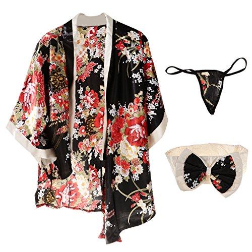 Fenteer Damen Festival Cosplay Lolita Japan Kimono Sexy Sakura Geisha Kostüm Dessous Nachtwäsche Reizwäsche