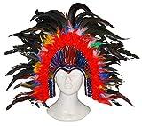 Karnevalsbud - Kostüm Accessoire- Samba Kopfschmuck- Brasilianischer Karneval- Erwachsenen Kopfbedeckung, Mehrfarbig