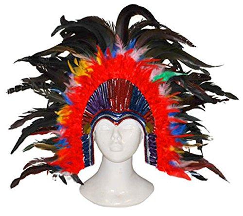 m Accessoire- Samba Kopfschmuck- Brasilianischer Karneval- Erwachsenen Kopfbedeckung, Mehrfarbig (Brasilianische Kostüme Halloween)