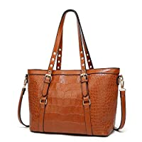 Cross-Body Bags Fashion Artificial Crocodile Pattern with Large Single Shoulder Strangles Across Women