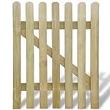 vidaXL Portillon en bois barrière décorative clôture de jardin Pin imprégné 100 x 120cm