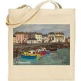 Jan Legard Landschaften Falmouth Harbour, Cornwall | wiederverwendbar | umweltfreundlich | mit Tasche, ideal als Geschenk | Fun