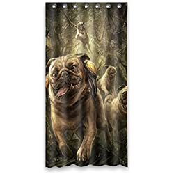 "CARLINO goliton Doubee easiskins animales de poliéster cortina de ducha 91,44 cm x 182,88 cm, 90 cm x 183 cm, poliéster, C, 36"" x 72"""