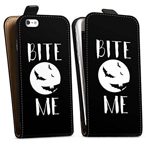 Apple iPhone SE Silikon Hülle Case Schutzhülle Halloween Fledermaus Vampire Downflip Tasche schwarz