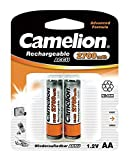 Camelion 17027206 Akku (NiMH, R6, Mignon, AA, 2700 mAh, inkl. Aufbewahrungsbox geeignet für 4 x Akkus) 2er-Pack