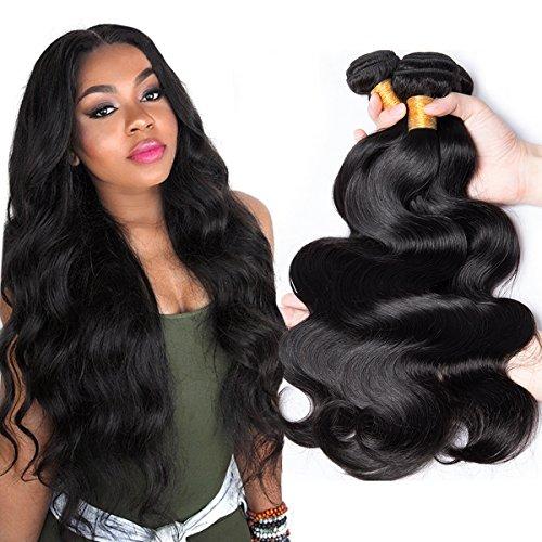 schen Körper Welle Jungfrau Haar 100% Virgin unverarbeitete menschliche Haare weben Haarverlängerung vigin brasilianischen Haar Körper Wave natürliche Farbe (100 +/-5G)/PC gemischten Länge 8-28 Zoll (10 12 14 Zoll) (Körper-wellen-brasilianische Haar -)