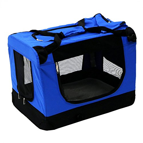 Oypla Portable Haustier-Hundekatze-Kaninchen-Welpen-Fördermaschine-Transport-Kisten-Käfig