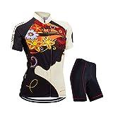 ZEROBIKE® Frauen Kurzschluss Hülse mit Reißverschluss-einen Kreislauf durchmachenjersey Jacken-einen Kreislauf