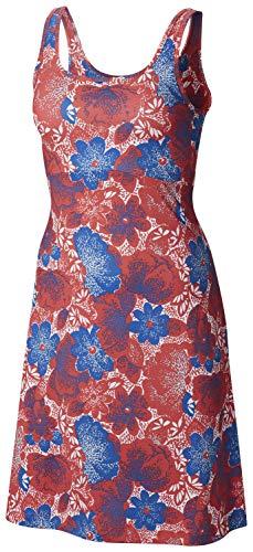 Columbia Damen Freezer Iii Kleid, Damen, Freezer III Dress, Sunset Red Flowers Print, Large Flower Jersey Kleid