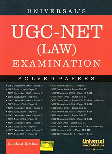 Universal's UGC-NET (LAW ) EXAMINATION SOLVED PAPERS